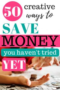 creative ways to save money now.