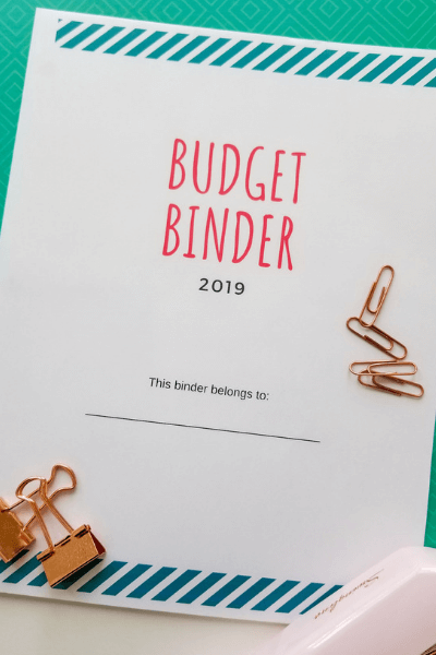 free budget binder printables the cover