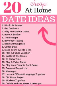 List of romantic date night ideas