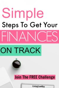 Start saving money and learn how to create a budget with our 5 day Organize Your Finances Challenge. These simple steps will help you set financial goals and reach them! Get out of debt and start saving money now!!