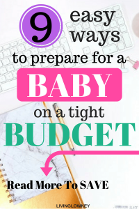 New baby on the way and looking to start saving money? New babies are expensive so start budgeting for a baby before he gets here. Preparing for a baby is a lot of work so the early you start the better. Your finances will thank you in the long run.