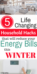Life changing house hacks that will reduce your energy bill this winter.