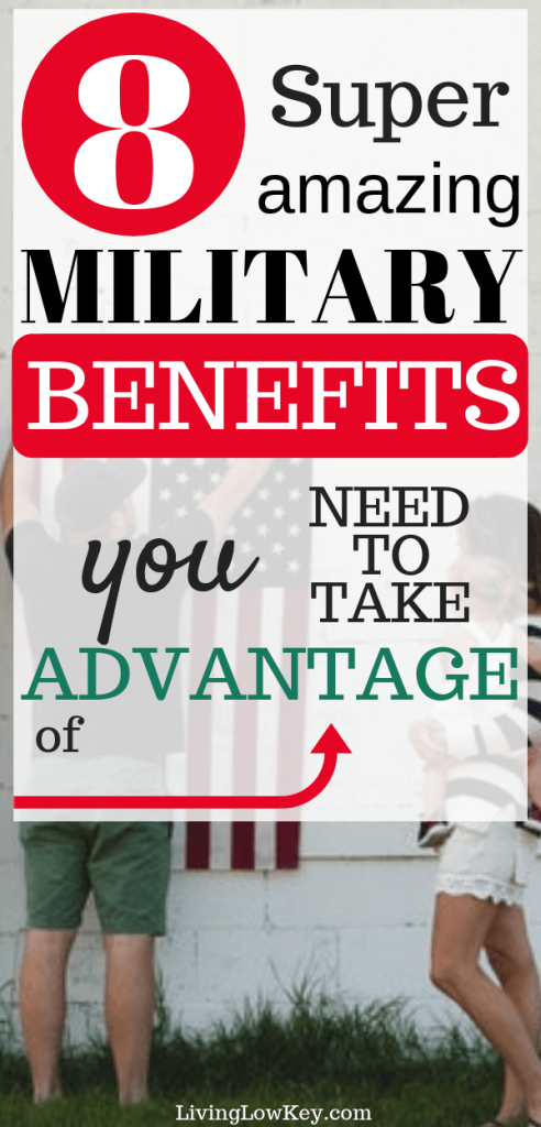 The military has so many pros! Check out these active duty military benefits for your family.