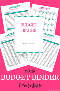 Budget Binder Printable that will help you with your finances for the new year.