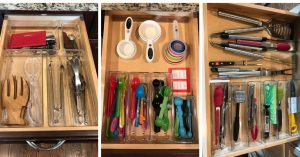 Lets organize your kitchen drawers. You'll love these hacks for your kitchen.