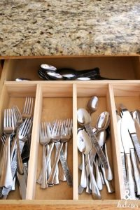 Organize your kitchen with these DIY drawer dividers.