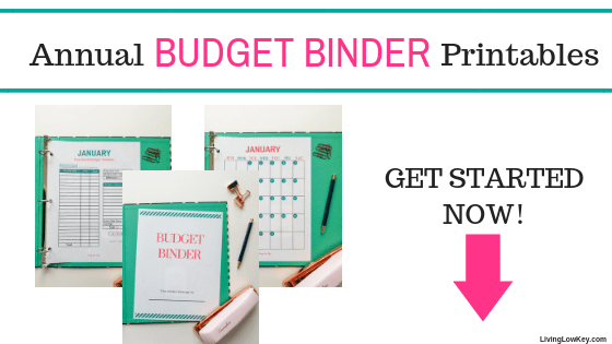 Annual budget binder printables