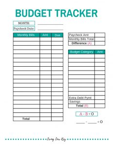 learn how to make a budget and control your spending with this budget plan printable.