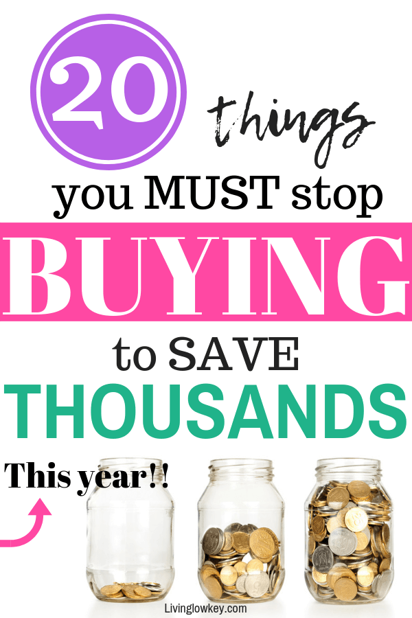 Looking to spend less and save more. Stop buying things to save money.