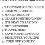 List of new year resolutions that will blog your mind.
