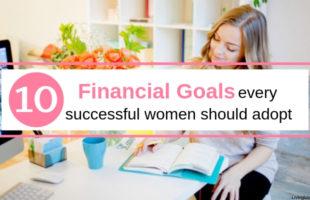 Girl writing down her short term financial goals.