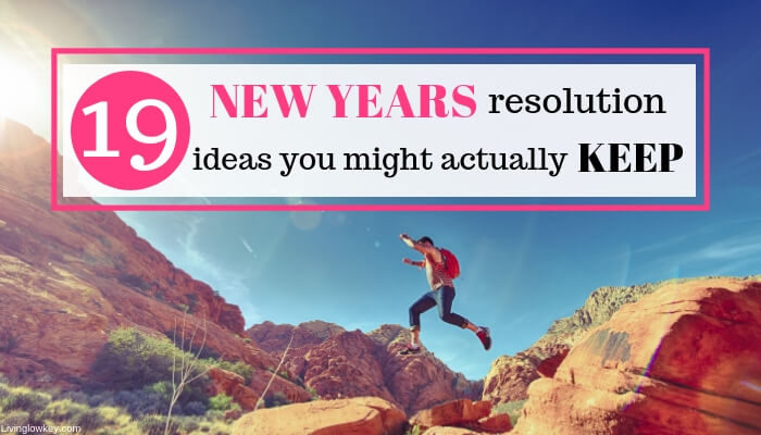 Person jumping over rocks because they are so excited for their New Years resolution ideas.