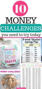 10 money savings challenge