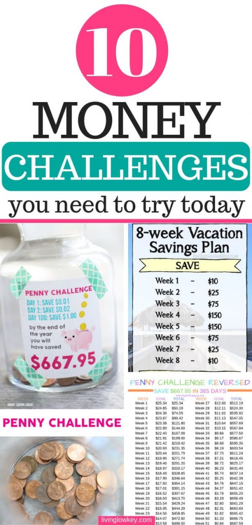 10 money savings challenge