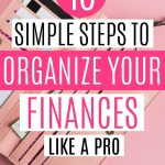 organize finances