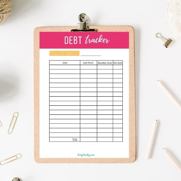 budget planner free printable