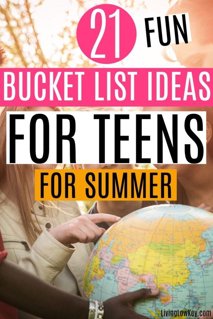 teen bucket list